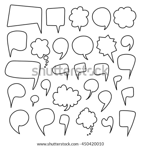 speech bubbles hand drawn