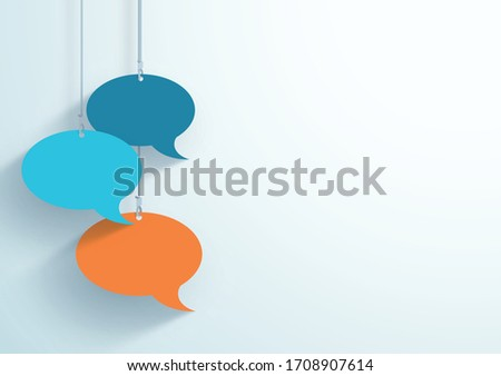 speech bubbles hanging on