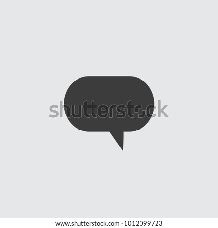 Speech bubbles icon flat icon. Single high quality outline symbol of info for web design or mobile app. Thin line signs of chat for design logo, visit card, etc