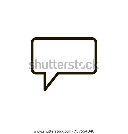 Speech bubbles icon flat icon. Single high quality outline symbol of info for web design or mobile app. Thin line signs of chat for design logo, visit card, etc. Outline logo of message