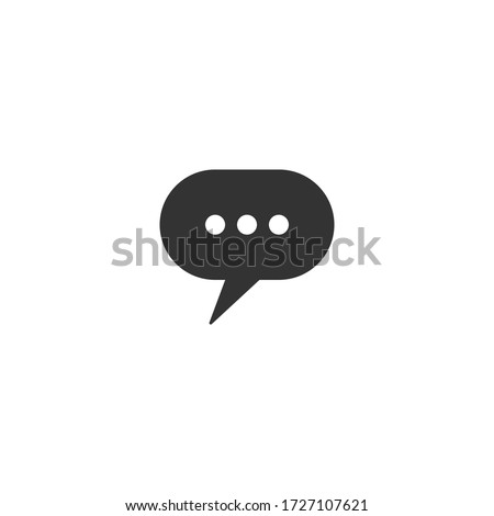 Speech bubbles icon in a flat design in black color. Vector illustration.chat icon. Stock photo ©