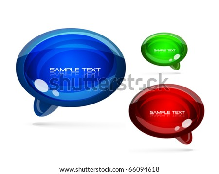 speech bubble icon. stock vector : Speech bubbles icon set. Eps10 vector