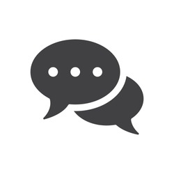 Speech bubbles Icon  vector flat design