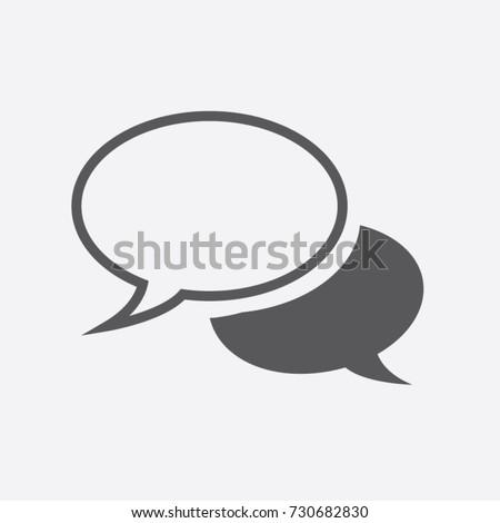 Speech bubbles Icon vector flat design