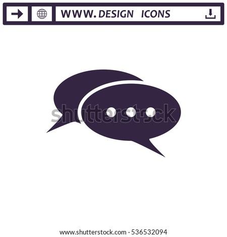 Speech Bubbles Icon Vector flat design style