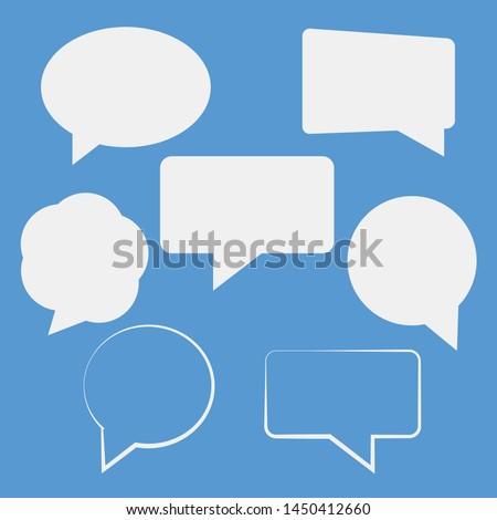 Speech bubbles isolated vector set. Cloud bubble speech for communication