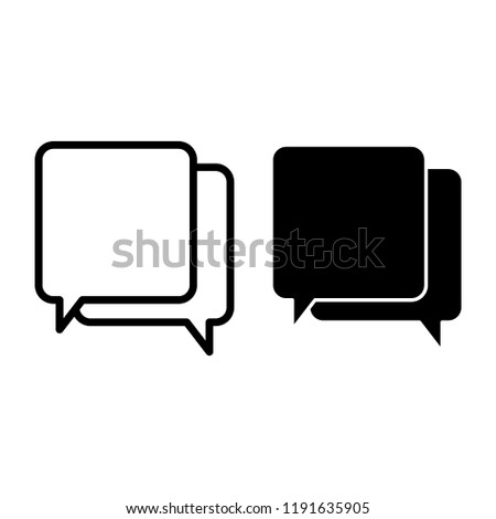 Speech bubbles line and glyph icon. Message vector illustration isolated on white. Chat outline style design, designed for web and app. Eps 10