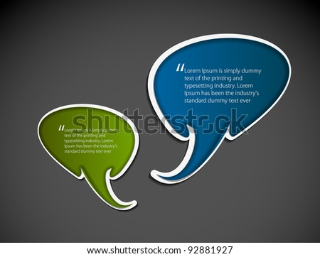speech bubbles on the a background. Vector illustration.