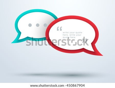 speech bubbles overlapping with