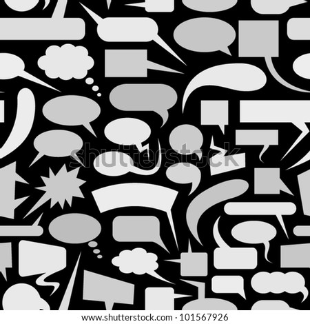 Speech bubbles seamless pattern.