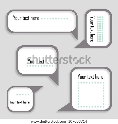 Speech bubbles set. Eps10 - stock vector