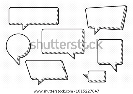speech bubbles set of accurate
