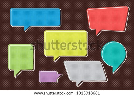 speech bubbles set of inverted