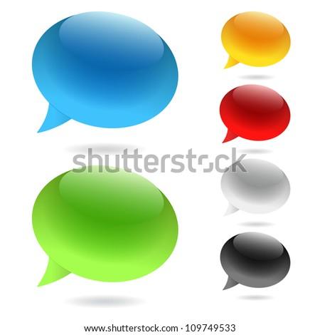 Speech Bubbles (Set of speech bubbles)