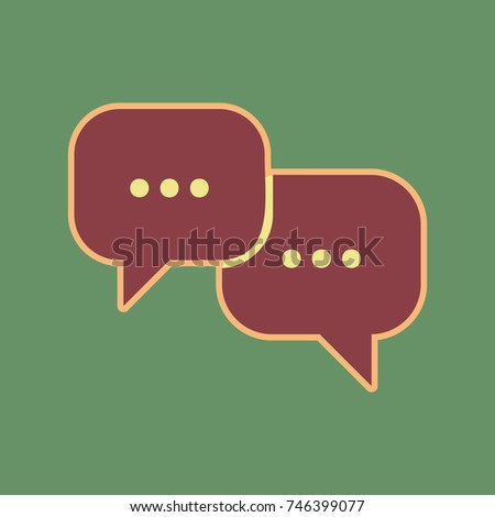 speech bubbles sign vector