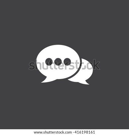 speech bubbles solid icon, vector illustration, pictogram isolated on black