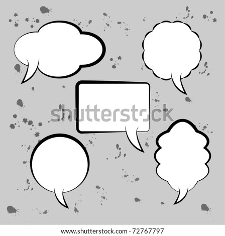 Speech bubbles - template