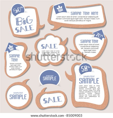 speech bubbles templates for your text