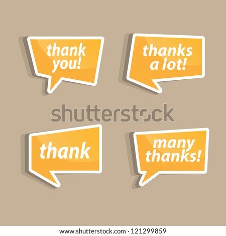 Speech bubbles to talk about thank A vector illustration.