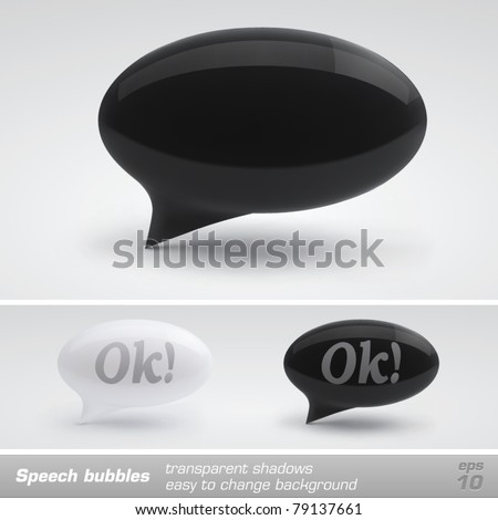 Speech bubbles. Vector - stock vector