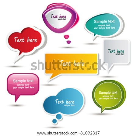 Speech bubbles. Vector