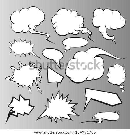 Speech bubbles vector comic book