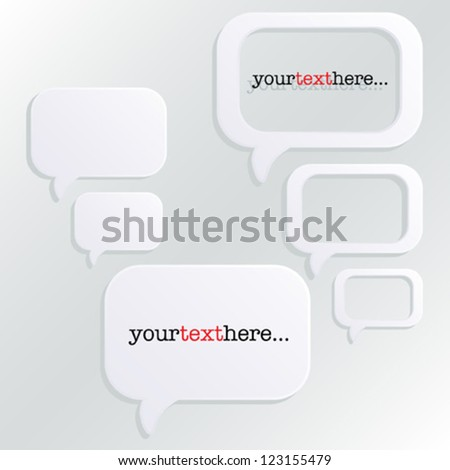 Speech Bubbles  - vector eps10