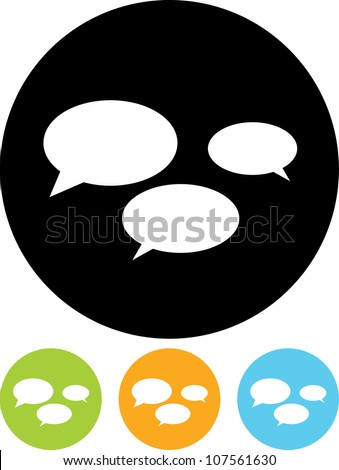 Speech bubbles - Vector icon isolated