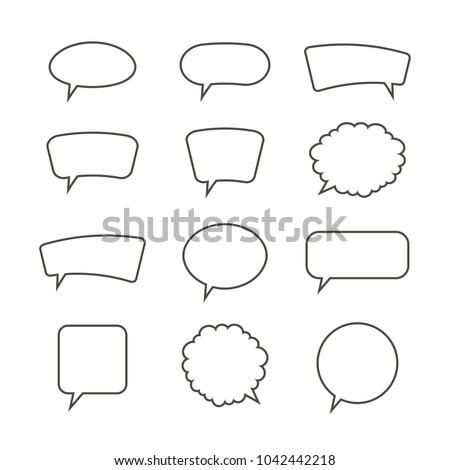Speech bubbles. Vector illustration.