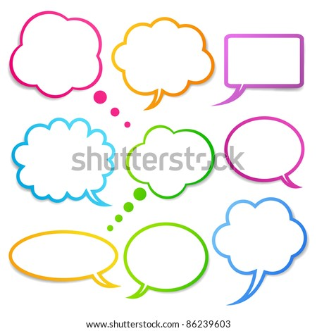 Speech bubbles vector set, EPS10