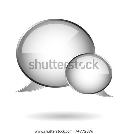 Speech bubbles - vector template