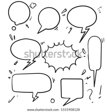 speech bubbles vintage word