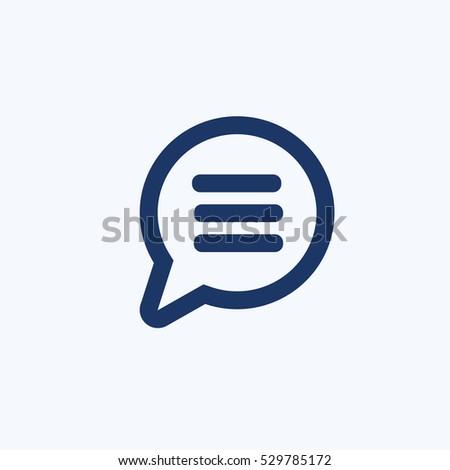 Speech icon design,clean vector