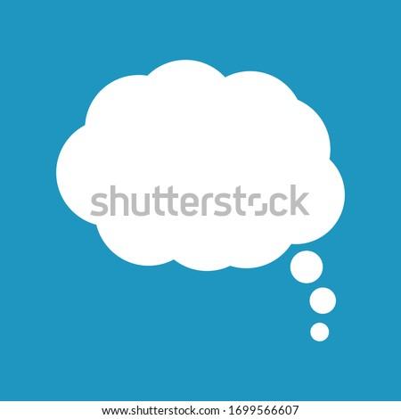 Speech or think bubble, empty communication cloud. Vector design element.