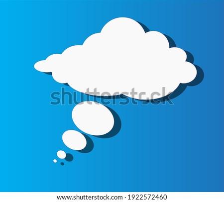 Speech or think bubble Vektor Stock foto ©