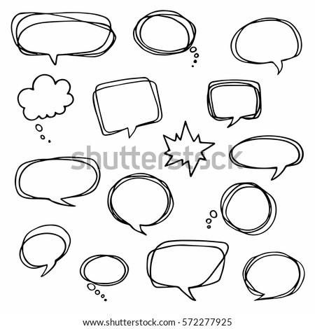 speech or thought bubbles of