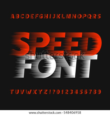 speed alphabet font wind