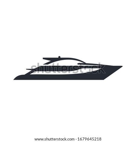 speed boat logo design template