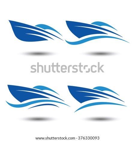 speed boat logo icon,vector illustration