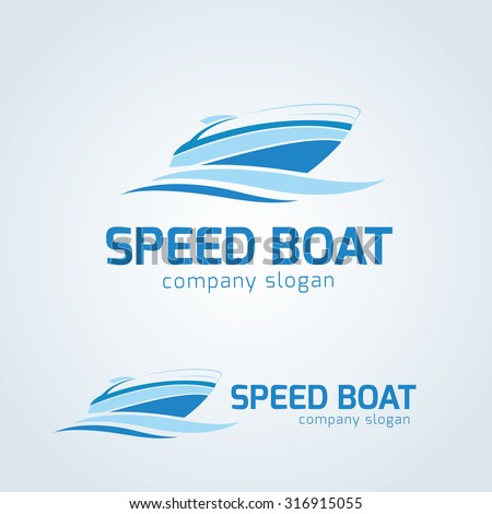 Speed boat Vector logo template