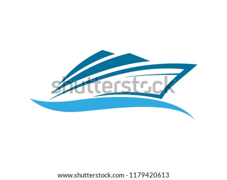 speed boat with waves  the