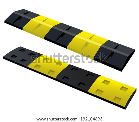 speed bump or obstacle on the