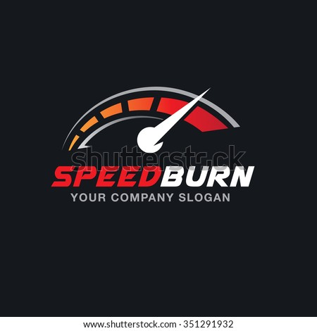 speed burn logo vector logo