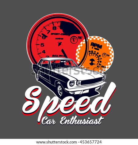 speed car enthusiast vector t