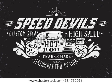 speed devils hand drawn grunge