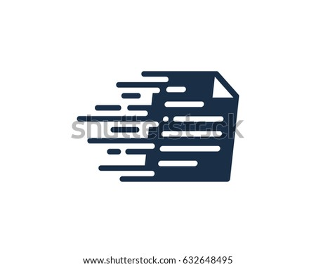 Speed Docs Paper Icon Logo Design Element