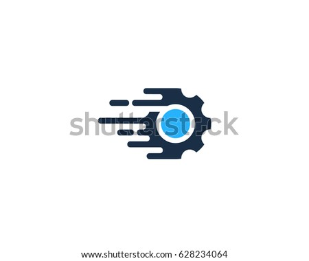 Speed Gear Icon Logo Design Element