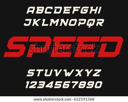 speed geometric decorative font