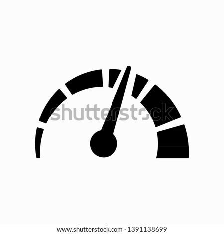 Speed icon isolated on white background