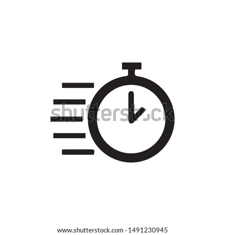 speed icon vector. Linear style sign for mobile concept and web design. fast time symbol illustration. Pixel vector graphics - Vector. Сток-фото ©
